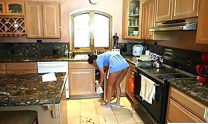 Stepson fucking with stepmom and maid