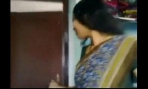 Indian Hot Horny desi aunty takes her saree off and then sucks cock her devor part 1 - Wowmoyback