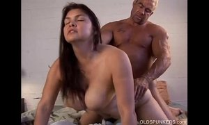 Beautiful big tits MILF Patty loves the taste of cum