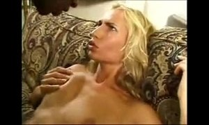 Interracial blonde chick