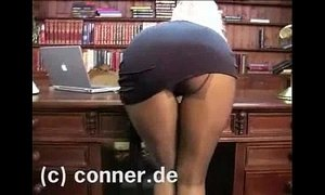 Adele Stephens - Pantyhose in the Office
