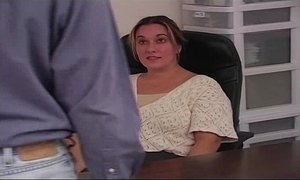 Office Spanking BBW Amateur Pt.1