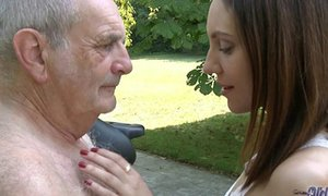 Aged youthfull porno - granddad nails teenager gonzo blow-job porn video