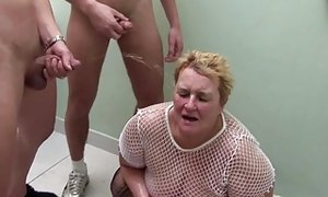 Ample grandma at super-naughty urinate group sex with youthfull folks sextube