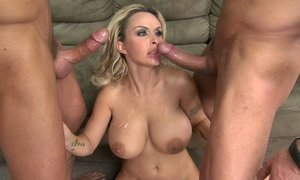 anal, blonde, double fucking, facial, group