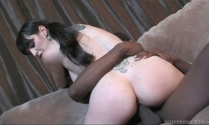 BBC fucks nasty tattooed brunette Natalie Minx and makes her hole stretched