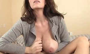 Huge-chested mature jacking firm schlong point of view best porn