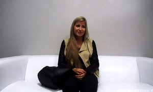 Nice Blonde Eliska Banged At The Casting 545